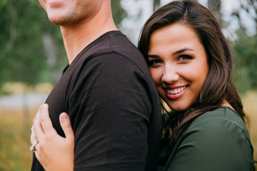 Cave Falls Idaho Engagement Session by JayCee Photography