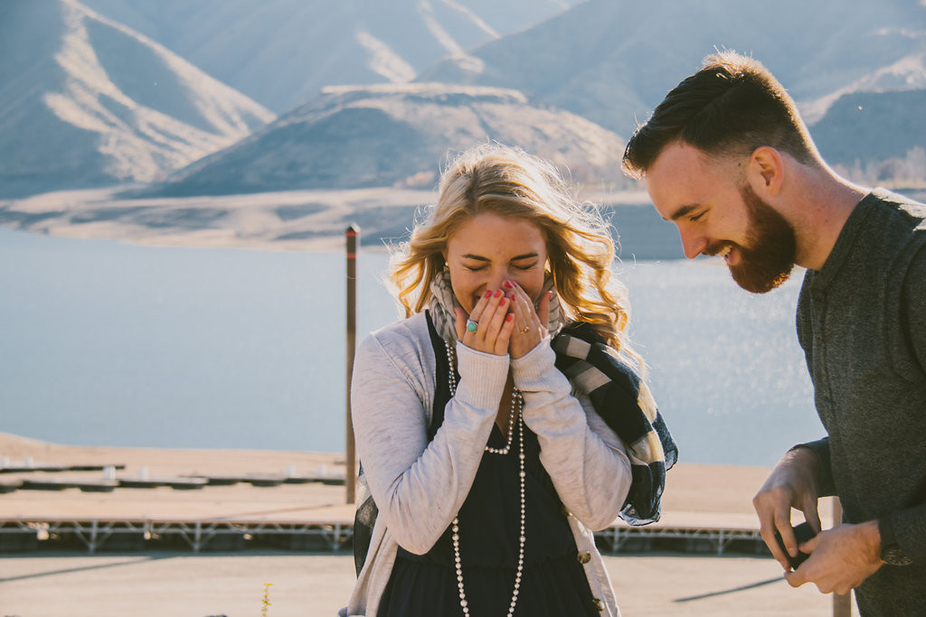 Lucky Peak Idaho Proposal by Ella Florence Photography