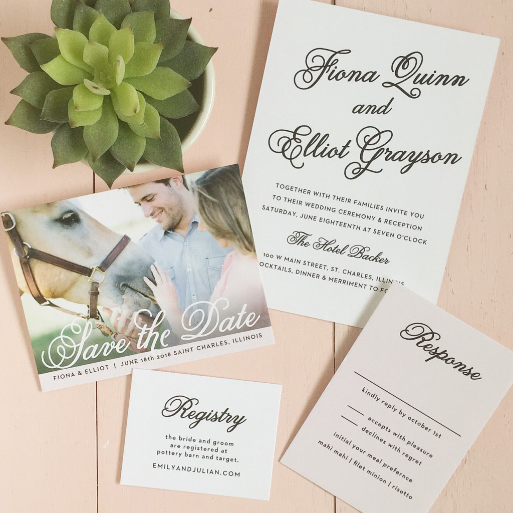 Wedding invitations | Black and white invitation | Basic Invite