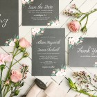 ornate Wedding invitations | Black and white invitation | Basic Invite