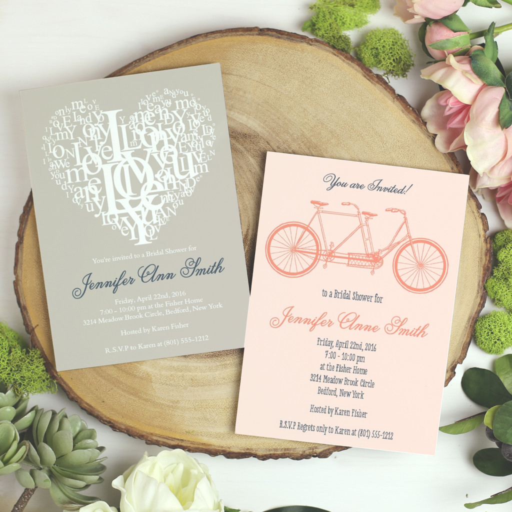 Bridal Shower Invitations | Bicycle invitations | Basic Invite