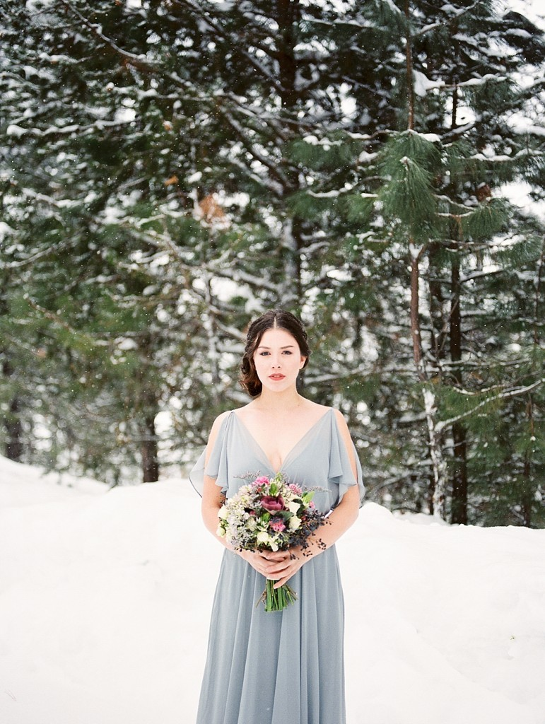 Romantic Snowy Winter Wedding Inspiration | McCall, Idaho | Brie Thomason Photography
